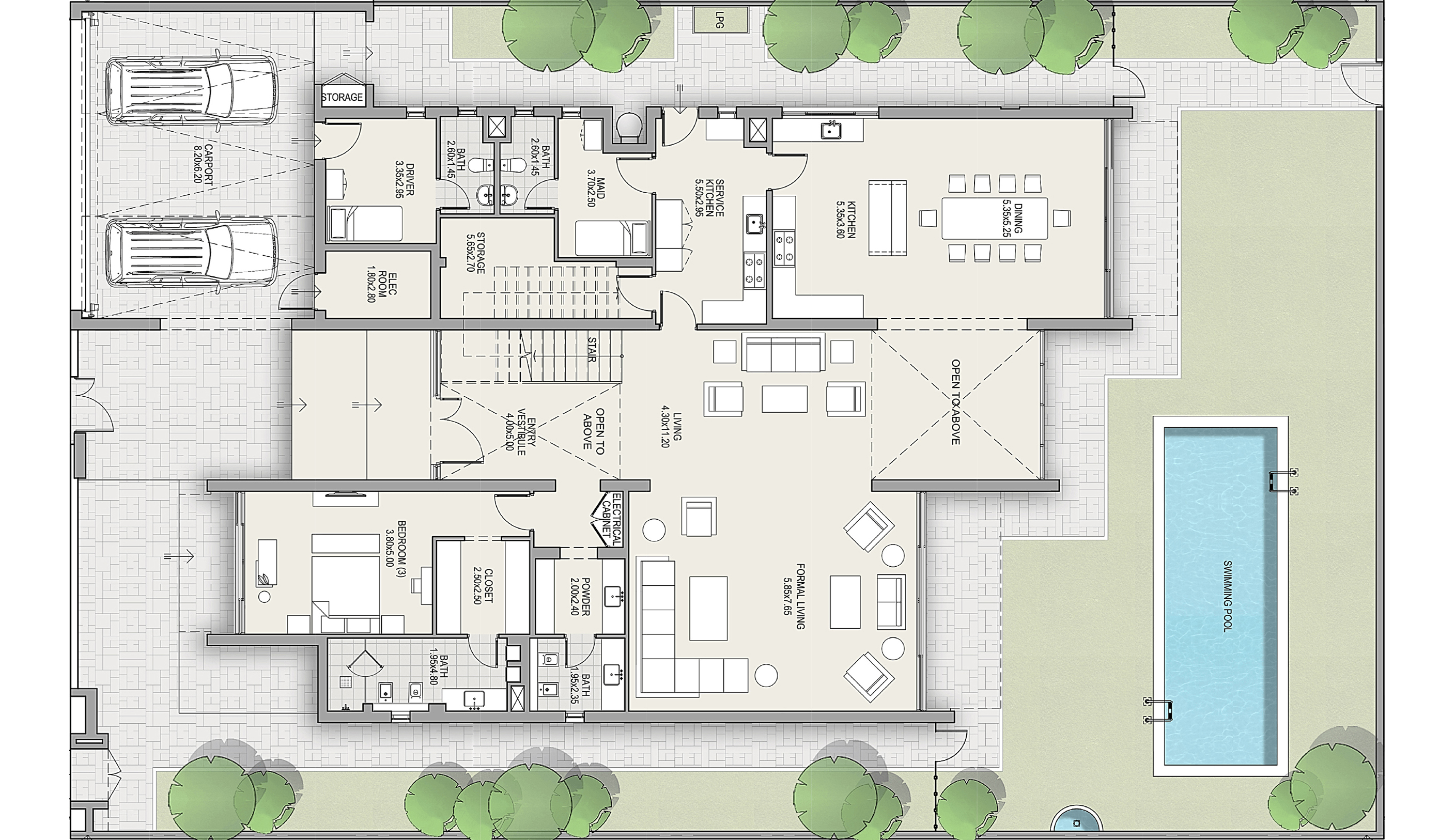 Ground Floor - Villa - Contemporary