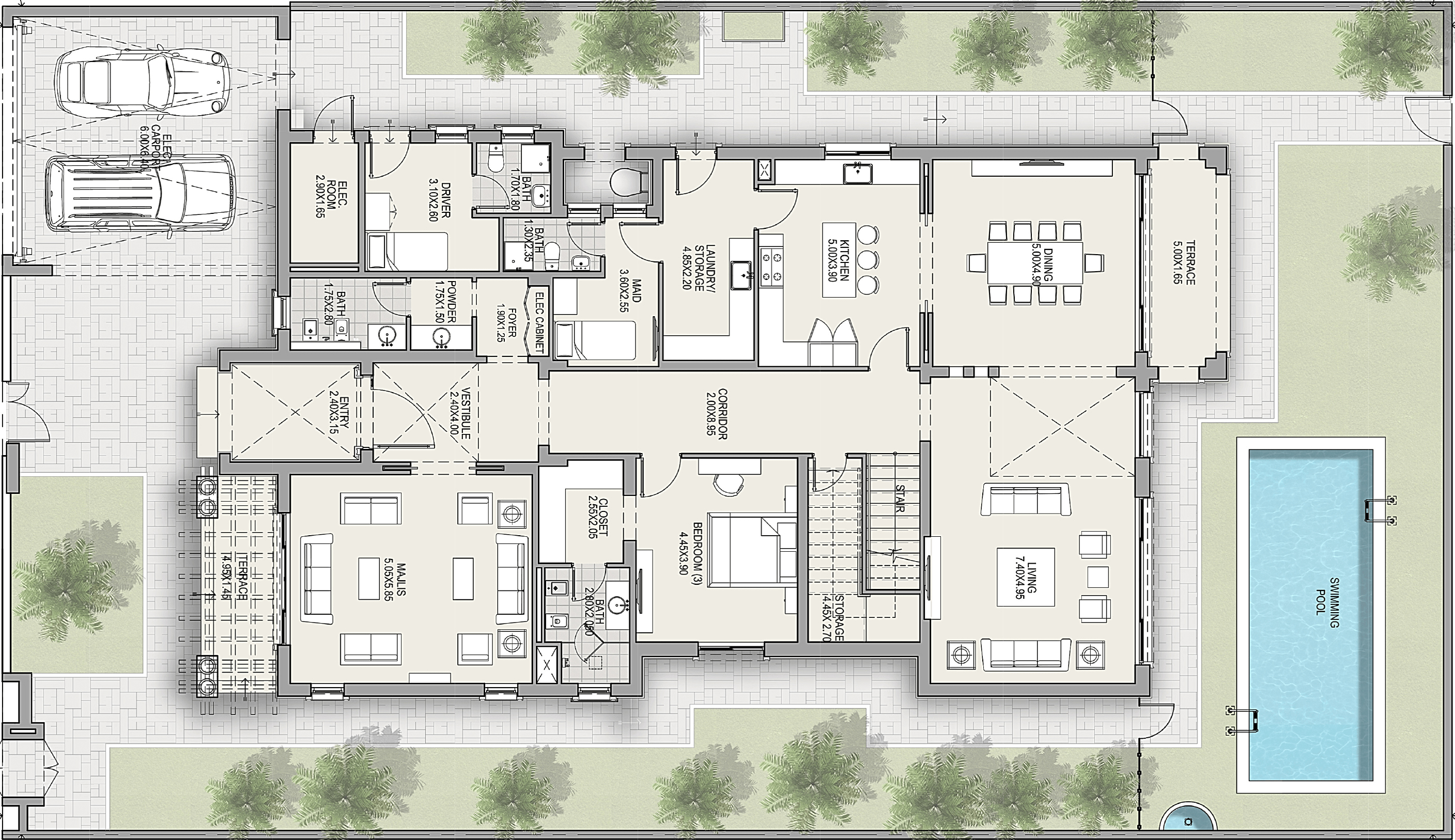 Ground Floor - Villa - Mediterranean